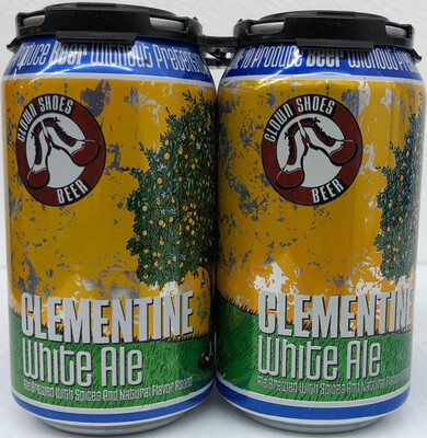 Clementine White Ale 12oz By Clown Shoes 4pk Can(F2-2)2