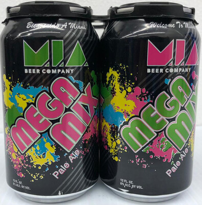 Mega Mix Pale Ale By Mia Beer Company From Miami, FL 12oz 4pk Can () BC