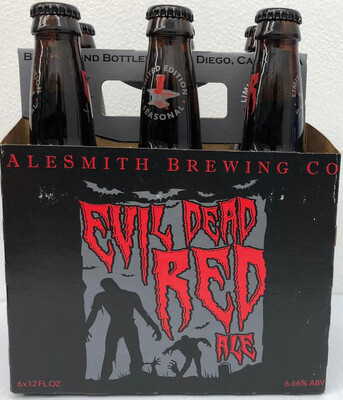 Evil Dead Red Ale by AleSmith Brew from San Diego, CA 12oz 6pk Bottle ()C