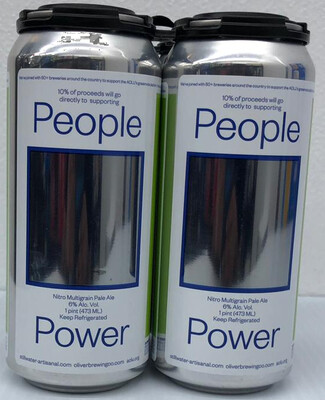 Nitro Multi Grain Pale Ale People Power by Still Water from Brooklyn, NY 16oz 4pk Can (E8-4)BC
