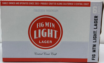 Fig MTN Light Lager by Figueron Mountain Brew from Buellton, CA 12oz 6pk Can (C) C