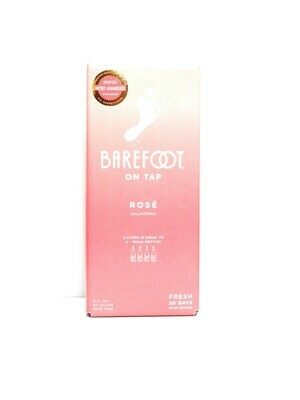 Barefoot on Tap Rose by Barefoot Cellars from Modesto, CA 3 Lit (C10-1) 9