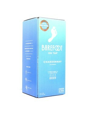 Barefoot on Tap Chardonnay by Barefoot Cellars from Modesto, CA 3 Lit (C10-1) 9
