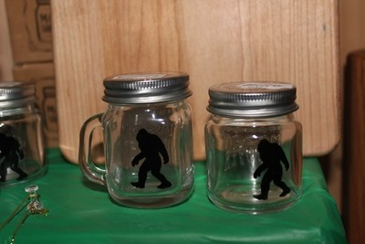 Big Foot Glass Jar Mug with or without Handle
