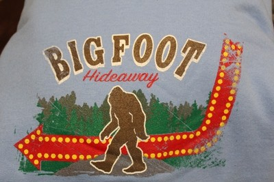 Big Foot Hideaway Sign T-shirt