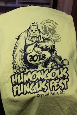 2018 Humongous Fungus Fest T-shirt (Bigfoot Hideaway)