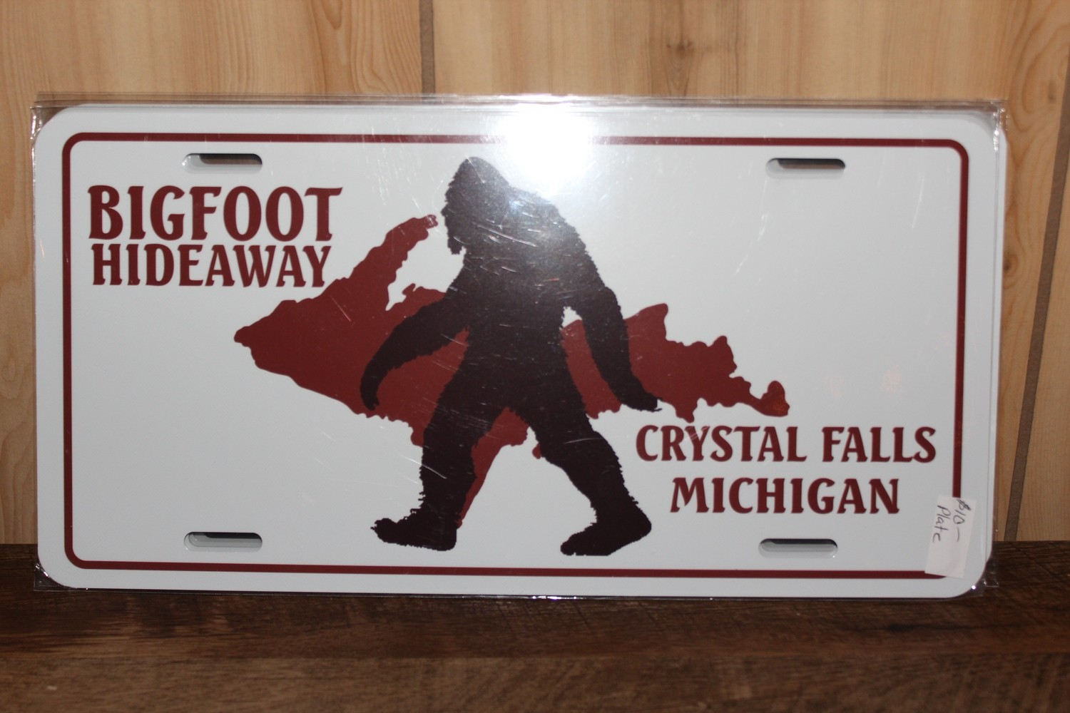 Bigfoot Hideaway License Plate