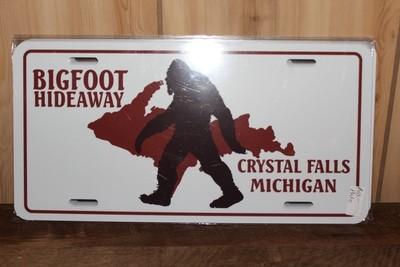Bigfoot Hideaway License Plate