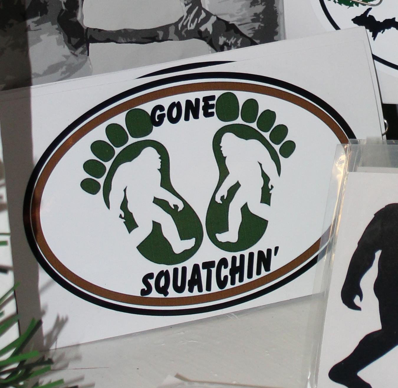 Sticker: Gone Squatchin'