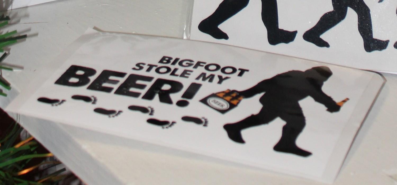 Sticker: Bigfoot Stole My Beer