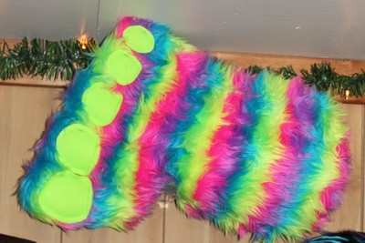 Colorful Big Foot Plush - Small