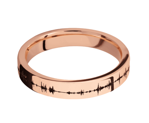 14K Rose Gold 4mm Flat Band with Polish Finish