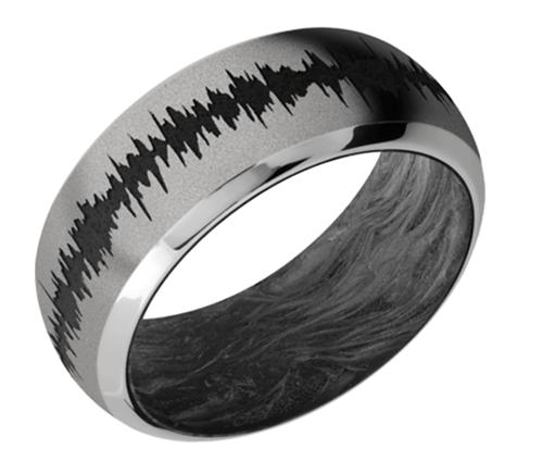 Titanium Domed Bevel w/forged carbon fiber sleeve FORGEDCFSLEEVE9DB/LCVSOUNDWAVE/A - sand-polish