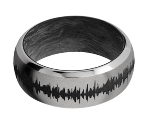 Titanium Domed Bevel w/forged carbon fiber sleeve