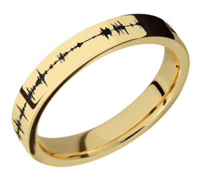 14K Yellow Gold band 4mm