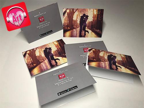 3 x 5 Folded Media Cards