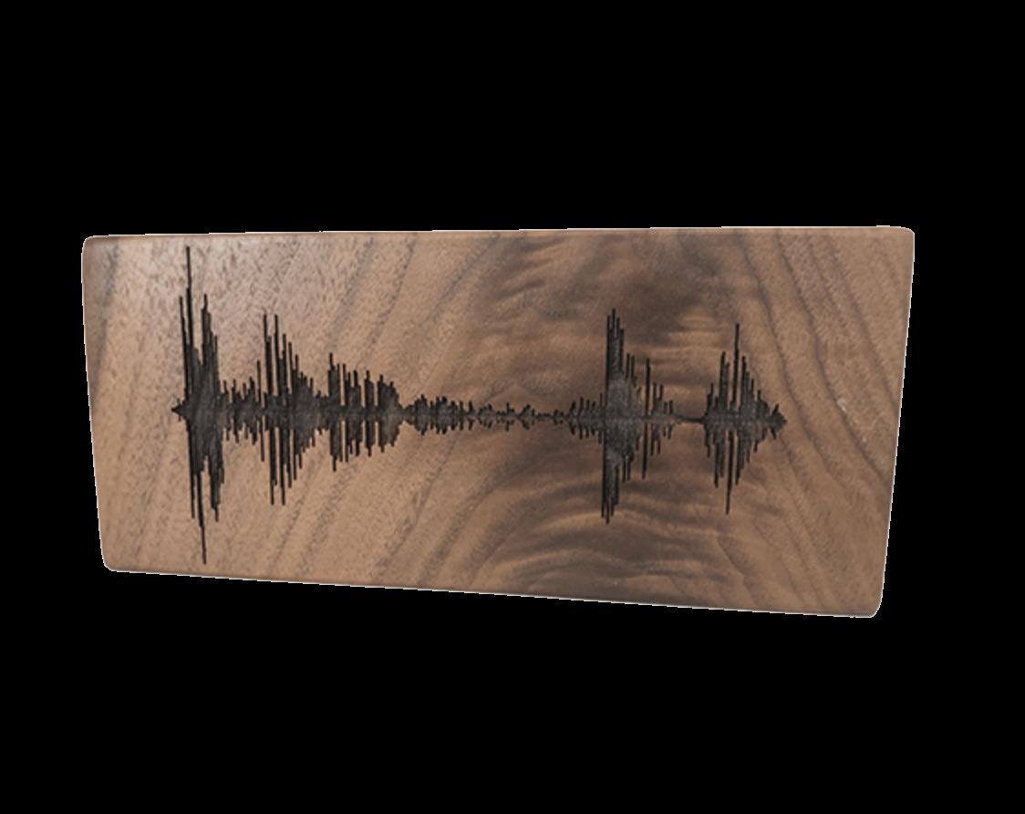 Soundwave Art Solid Walnut Block