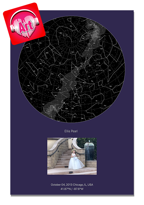 Star Map Art Aluminum