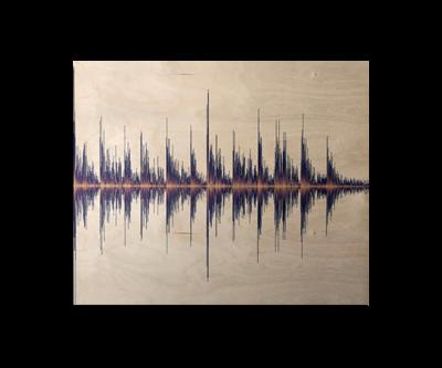 Soundwave Art Maple Wood Print