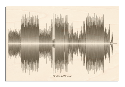 Ariana Grande god is a woman Soundwave Wood