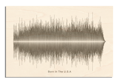 Bruce Springsteen - Born in the USA Soundwave Wood