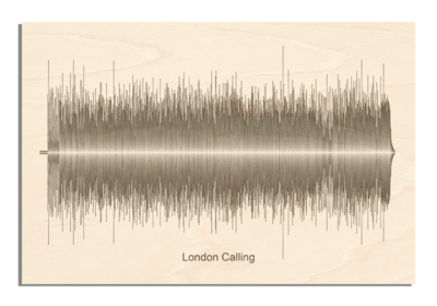 Clash - London Calling Soundwave Wood