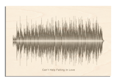 Elvis Presley - Can't help falling in love Soundwave Wood
