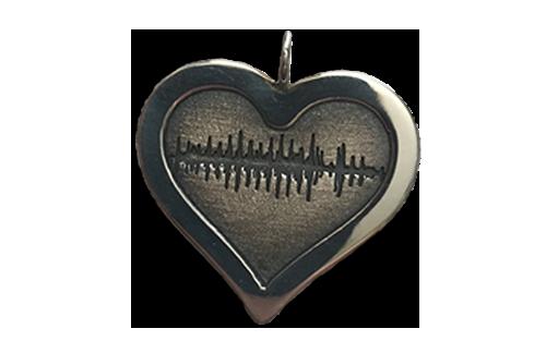Soundwave Heart Pendant