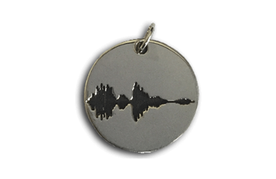Soundwave Circle Pendant