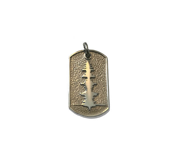 Soundwave small Dog Tag with raised Soundwave