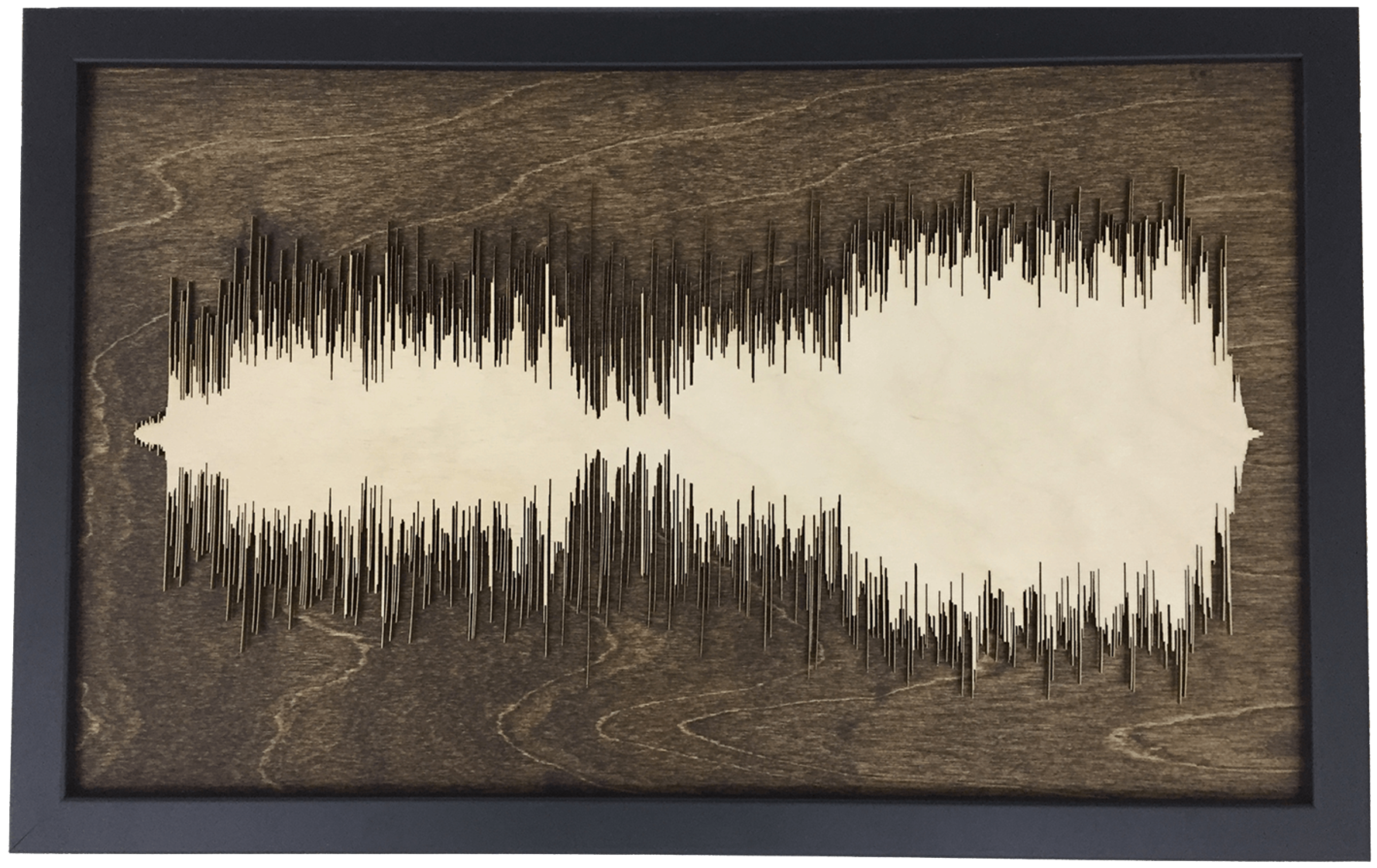 Soundwave Art Framed Wood Layered Cutout