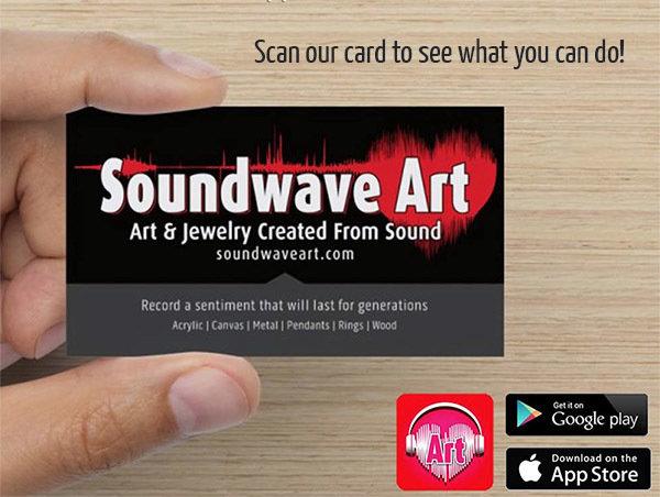 Soundwave media package for soundwave art make your business card interactive colourmoves