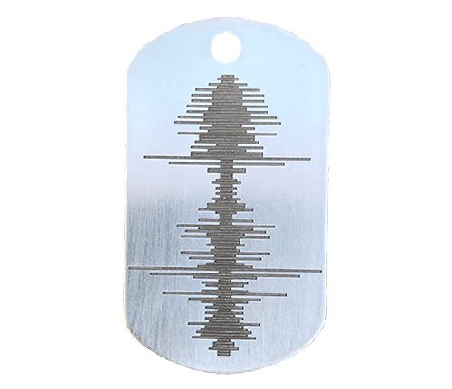 Soundwave Stainless Steel Dog Tag