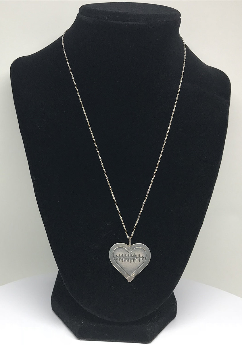 Soundwave Heart Pendant