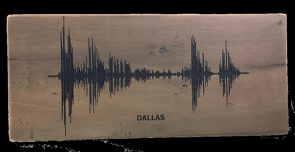 Soundwave Art Reclaimed Barn Wood Plaque 01051