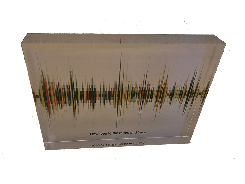 Soundwave Art Acrylic Block 00116