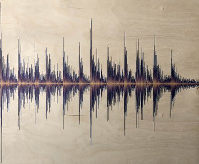 Soundwave Art Maple Wood Print