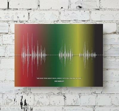 Bob Marley Quote Soundwave Metal