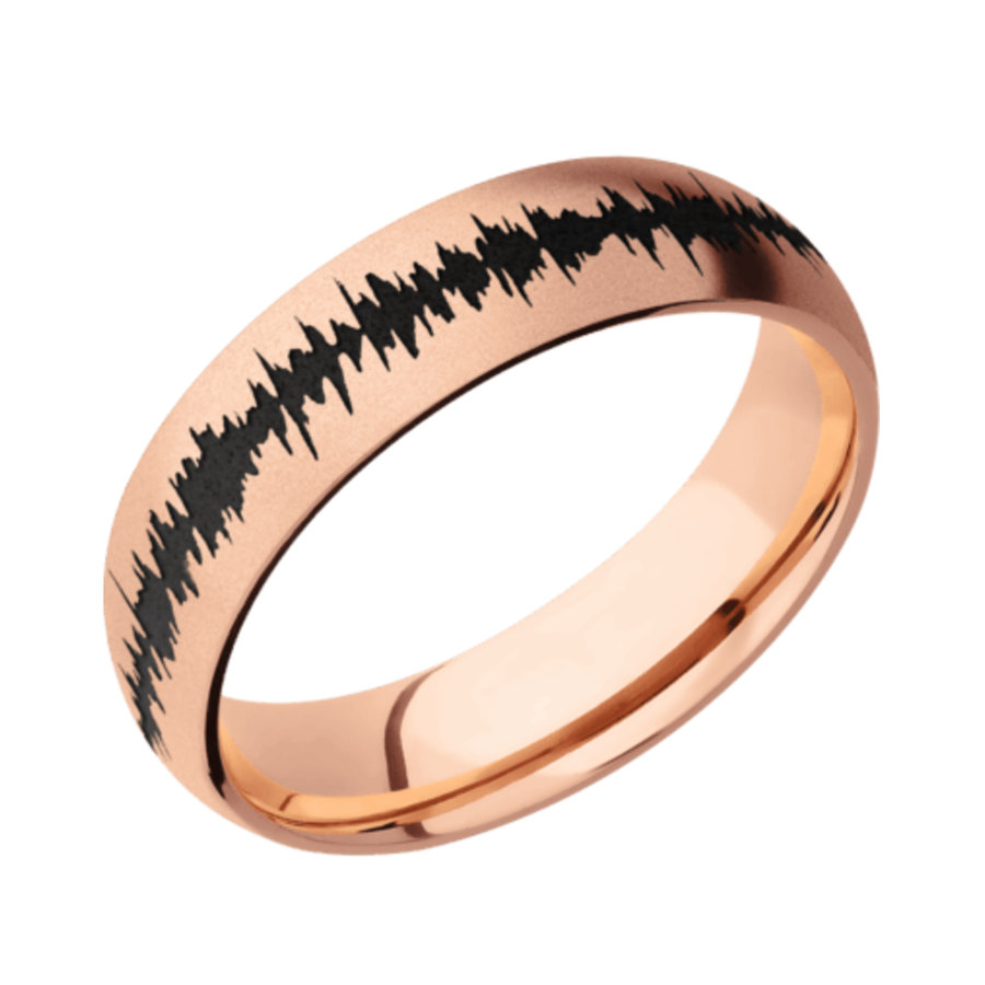 14K Rose Gold Domed Band with Satin Finish