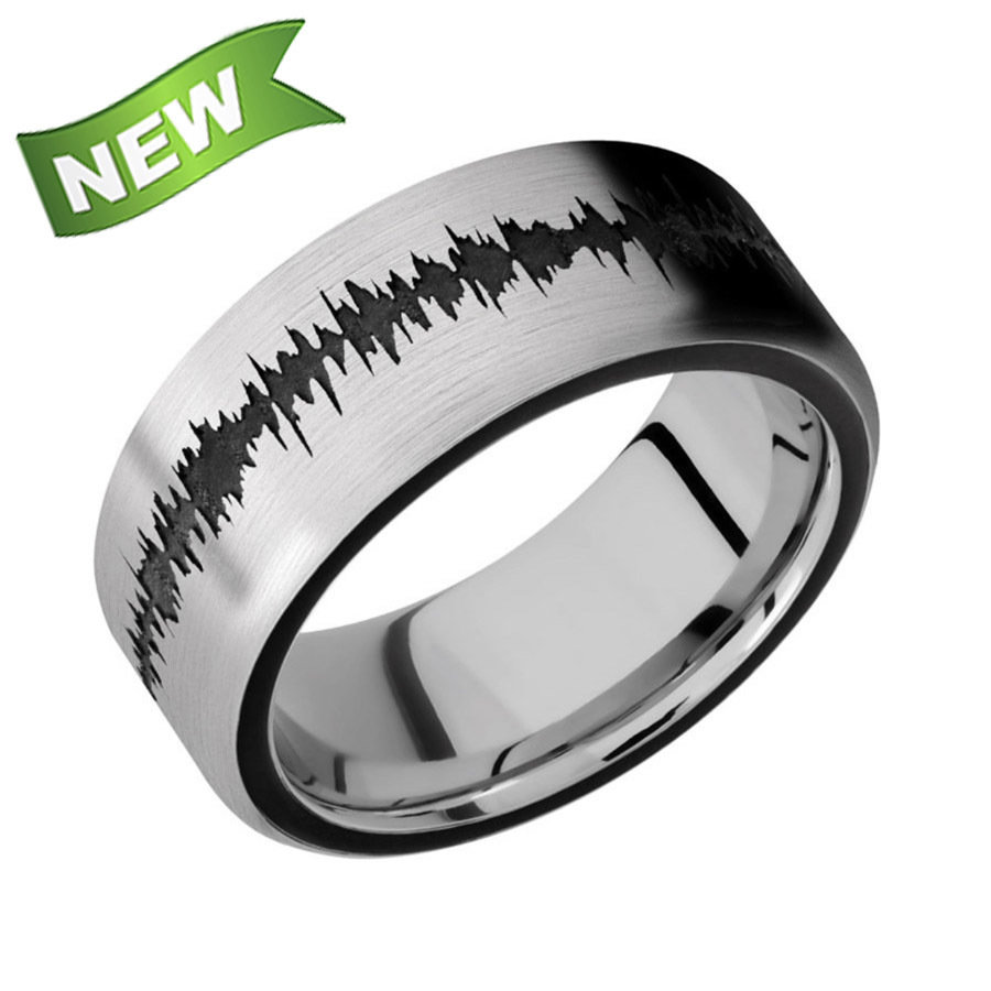 Titanium band with two 1 mm Side color inlays & matching Soundwave