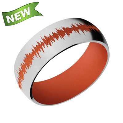 8mm Cobalt Chrome Domed Band w/ color Soundwave and sleeve