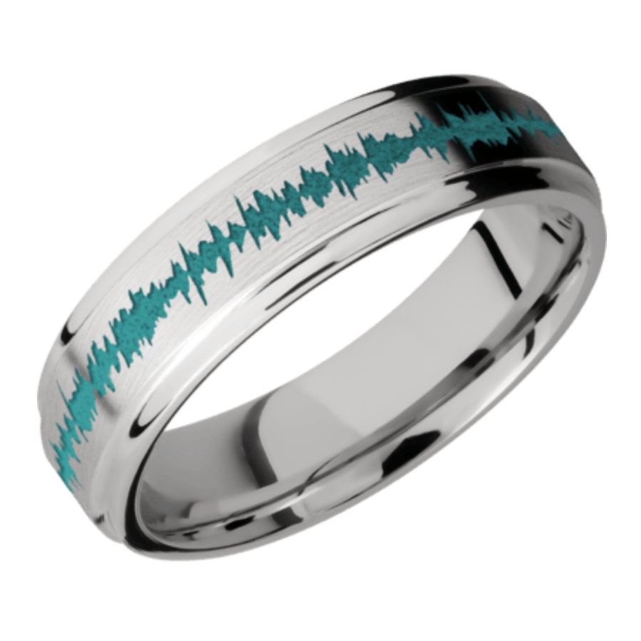 6mm Cobalt Chrome Flat band - grooved edges