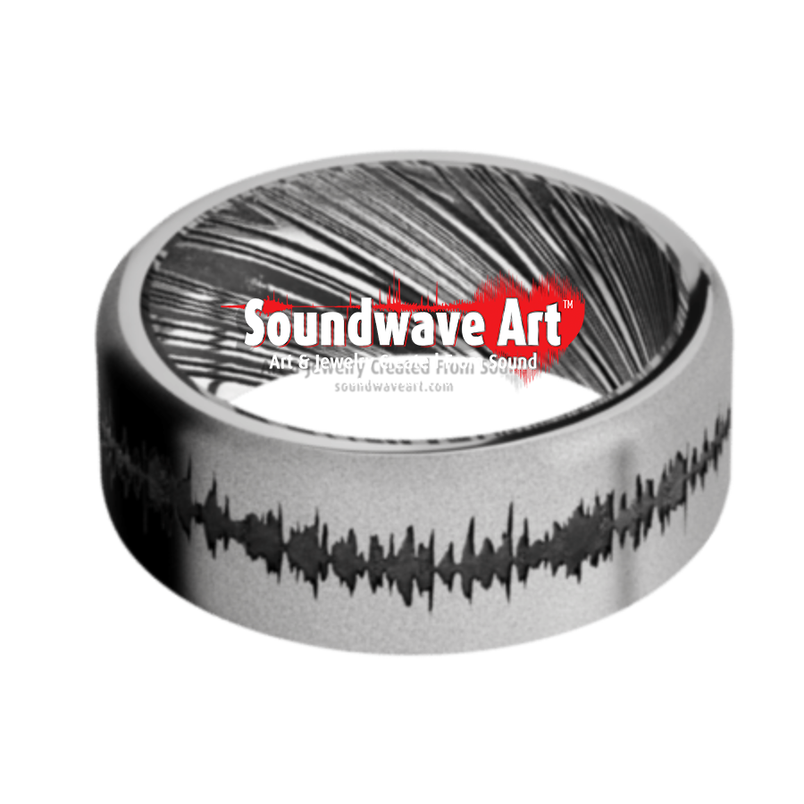 Cobalt Chrome Band w/Damascus Sleeve and black Soundwave