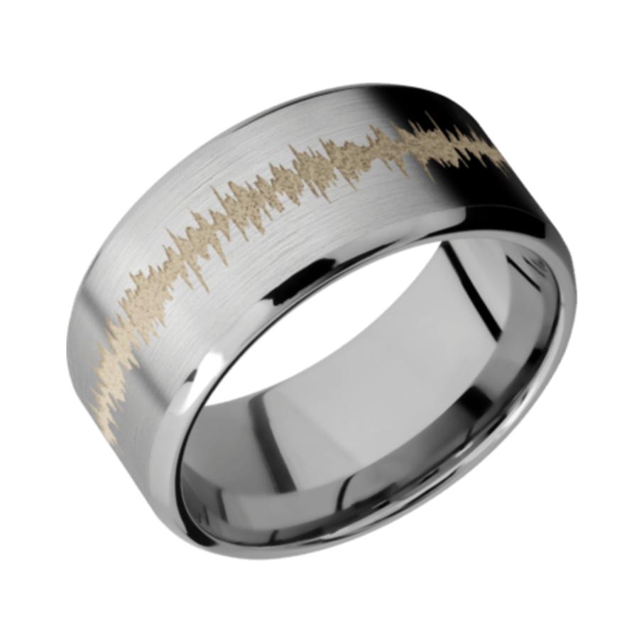 Titanium Beveled Band SATIN-POLISH w/color Soundwave 10B
