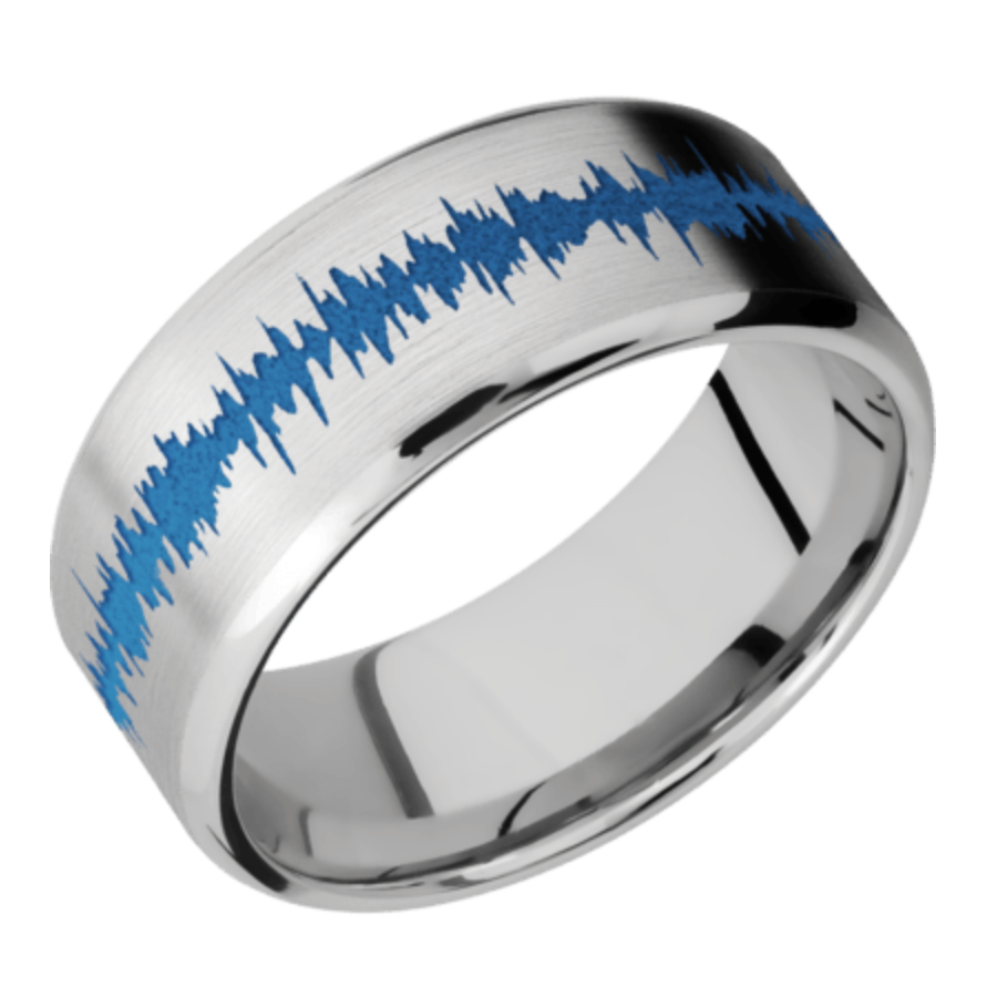 Cobalt Chrome w/ beveled edge and soundwave color of your choice