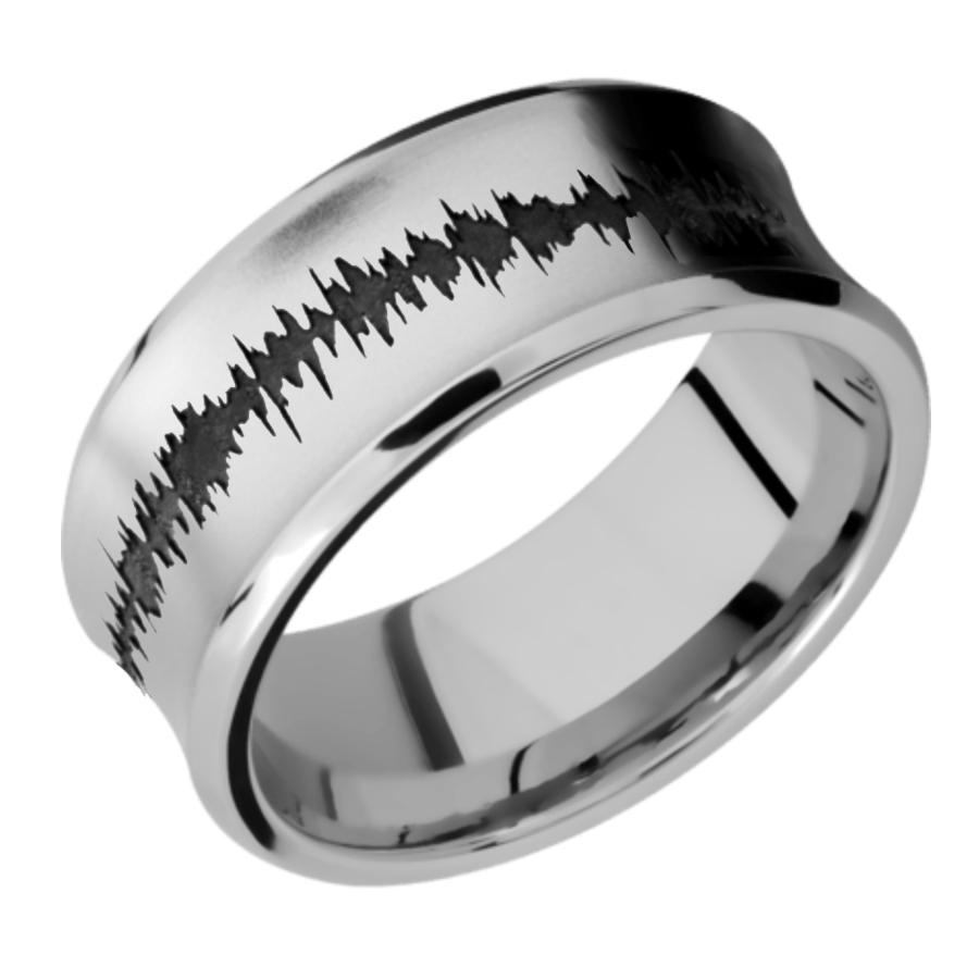 Cobalt Chrome Concave Bevel with color Soundwave