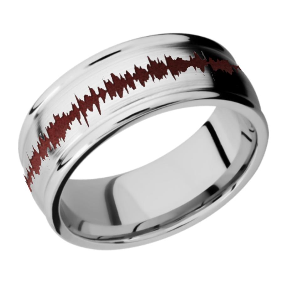 Cobalt Chrome Domed Band - Rounded Edges