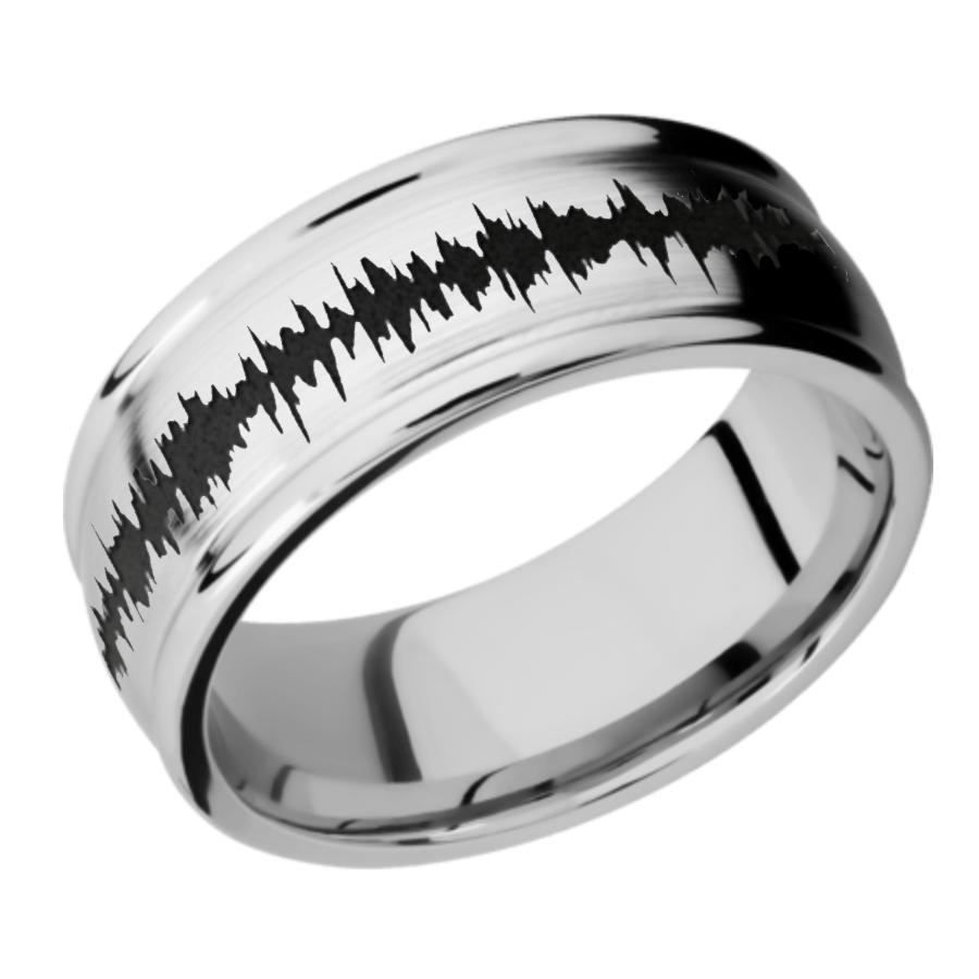 Cobalt Chrome Domed Band - Rounded Edges CC9RED/LCVSOUNDWAVE SATIN-POLISH