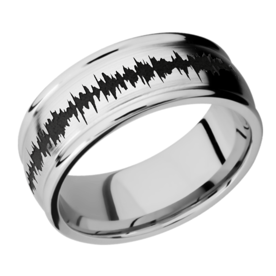 Cobalt Chrome Domed Band - Rounded Edges