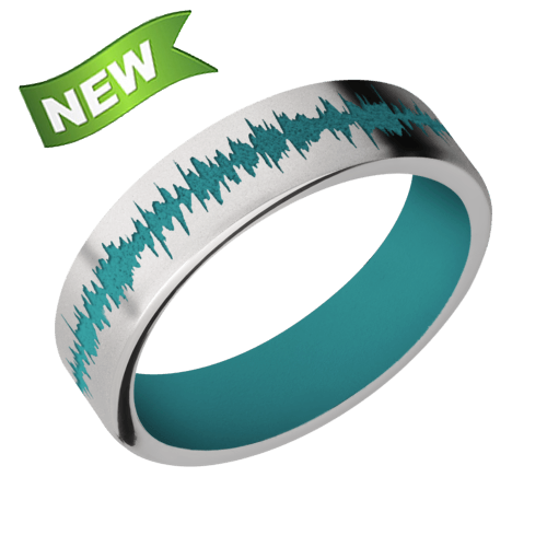 6mm Titanium band with color soundwave and sleeve